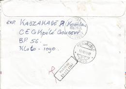 Togo 1988 Kpele-Ele G-1 Flower Market Rare Handstamp Parvenu En Cet Etat Cover - Togo (1960-...)