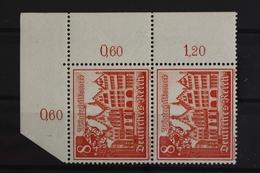 Deutsches Reich, MiNr. 734, Senkr. Paar, Ecke Re. Oben, Postfrisch / MNH - Allemagne