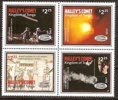 Tonga 2017 Micheln° 2151-2154 ***  MNH  Halley 's Comet - Tonga (1970-...)