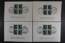 Deutsches Reich, MiNr. Block 7, 8, 9 + 11, Gestempelt - Deutschland