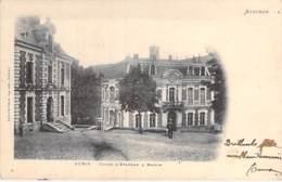 12 - AUBIN : La CAISSE D'EPARGNE ( Banque ) Et La MAIRIE - CPA Village (3.800 Habitants) - Aveyron - France