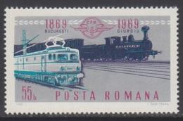ROUMANIE 1969 1 TP Centenaire Des Chemins De Fer Roumains N° 2496 Y&T Neuf ** - 1948-.... Republiken