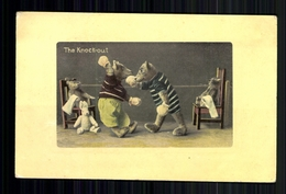 "Teddy Boxkampf ""The Knock-out"", Gelaufene Karte Aus Dem Jahr 1912 - Antilles"