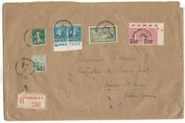 Lettre Recommandée  Bordeaux  Pour Oloron St Marie N°143 -163 -224 - 217    TBE - Francia
