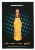 NUEVA BRAHMA BEATS, BEBIDA ALCOHOLICA CERVEZA, BEER DRINK ALCOHOL. POSTAL PUBLICIDAD ARGENTINA AÑO 2008 - LILHU - Publicidad