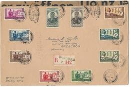 Lettre Recommandée Brazzaville / Arcachon  TBE - A.E.F. (1936-1958)