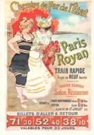 Royan  Paris  Chemins De Fer De L'etat  SNCF  Train 15  (scan Recto-verso)MA2164Bis - Royan