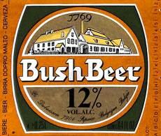 Etiquette Bière Bier Bush Beer Dubuisson, Pipaix - Bière