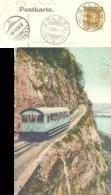 "AK  ""ARB - Arth Rigi Bahn""  (Drucksachen Frankatur / Schnapszahl)         1908 - Suisse"