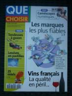 Que Choisir N°381, Avril 2001: Les Marques Les Plus Fiables-Vin Français... - Allgemeine Literatur