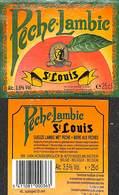 Etiquette Bière Bier Pêche-Lambic St Louis Ingelmunster - Bière