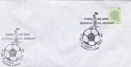 1981 FDC COVER URUGUAY- COPA DE ORO ALEMANIA VS BRASIL- BLEUP - Football