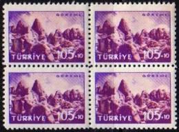 1959 TURKEY TOURIST PROPAGANDA OF GOREME BLOCK OF 4 MNH ** - Ongebruikt