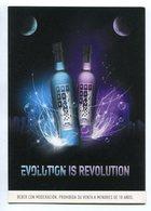 EVOLUTION IS REVOLUTION, FRIZZE BEBIDA ALCOHOLICA ALCOHOL DRINK. POSTAL PUBLICIDAD ARGENTINA AÑO 2009 - LILHU - Publicidad