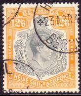 BERMUDA 1938 SG #120a 12sh6d Perf.14 Used Grey And Brownish Orange CV £75.00 - Bermuda