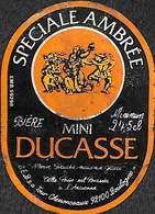 Etiquette Bière Bier Spéciale Ambrée Mine Ducasse Boulogne - Beer