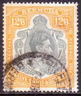 BERMUDA 1940 SG #120b 12sh6d Perf.14 Used Grey And Pale Orange CV £55.00 - Bermuda