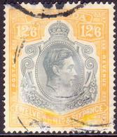 BERMUDA 1944 SG #120c 12sh6d Perf.14 Used Grey And Pale Orange CV £70.00 Ordinary Paper Slightly Discoloured - Bermuda