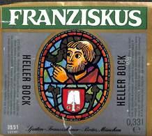 Etiquette Bière Bier Franziskus Heller Bock - Birra