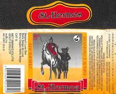 Etiquette Bière Bier St Hermes Abdijbier Brij Clarysse Oudenaarde - Bière