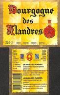 Etiquette Bière Bier Bourgogne Des Flandres - Brij Timmermans Itterbeek - Birra