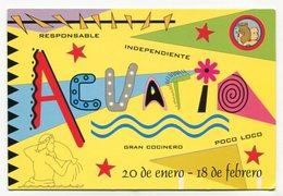 ACUARIO, SIGNO ZODIACO. AQUARIUS, ZODIAC SIGN. POSTAL PUBLICIDAD ARGENTINA AÑO 1999 - LILHU - Publicidad