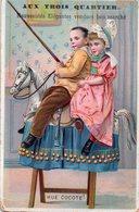 """Belle Chromo """"Aux Trois Quartiers"""", Nouveautés élégantes Vendues Bon Marché. Hue Cocote ! 2 Enfants - Other"""