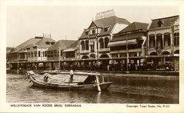 Indonesia, JAVA SOERABAIA, Willemskade Van Roode Brug (1920s) RPPC Postcard - Indonesië