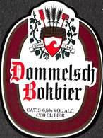 Etiquette Bière Bier Dommelsch  Bokbier Dommelen Brouwerij - Birra