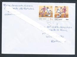 Football. Soccer. Fußball. Calcio. Fodbold. Rare Stamp Cape Verde With Rate Overhead. Stempel Van Kaapverdië Met Overhea - Wereldkampioenschap