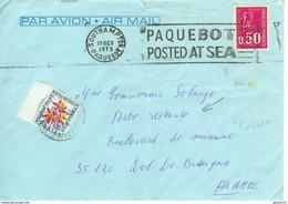 Bequet Avec Cachet Paquebot POSTED AT SEA SOUTHAMTON En Poste Restante - Marcofilie (Brieven)