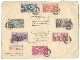 Lettre Recommandée Brazzaville / Arcachon Air France Première Liaison Rapide AEF / FRANCE TBE - A.E.F. (1936-1958)