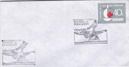 1985 SPC COVER URUGUAY- 50 AÑOS DE FUNDACION CENTRO AVIACION SALTO- BLEUP - Uruguay
