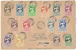 Lettre Recommandée Brazzaville /  Arcachon  TBE - Cartas