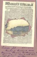 Indonesia, JAVA SOERABAIA, Newspaper Postcard Soerabaiasch-Handelsblad 1904 RPPC - Indonesië