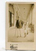 HOMBRE CON NIÑO, HOMME AVEC ENFANT, MAN WITH BOY - MAR DEL PLATA ARGENTINA PHOTO POSTALE 1928 NON CIRCULE - LILHU - Grupo De Niños Y Familias
