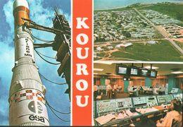 CARTE POSTALE DE GUYANE - KOUROU - CENTRE DE TIR SPACIAL - FUSEE - Guyane