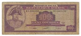 Haiti, 100 Gourdes 1991, Used,  See Scan. - Haiti