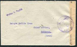 1940 Iraq Ottoman Bank, Basrah Censor Cover - Bank Mellie, Teheran Iran Persia - Iraq