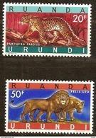 Ruanda-Urundi 1961 OCBn° 216A 216B *** MNH Cote 3 Euro Faune - 1948-61: Neufs
