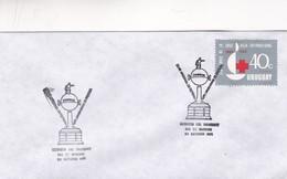 1971 FDC COVER URUGUAY-CLUB NACIONAL DE FUTBOL COPA LIBERTADORES- BLEUP - Football