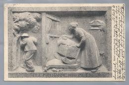 DE.- STILL MIN HANNE HÖR MI TO. Relief Vom Klaus Groth Brunnen, No.1. 1912 Curt Baumgarten. Bildhauer Heinrich Missfeldt - Voorstellingen