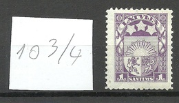 LETTLAND Latvia 1923 Michel 94 Perforated 10 3/4 * - Lettland