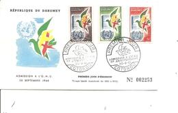Dahomey - ONU ( FDC De 1961 à Voir) - Benin - Dahomey (1960-...)