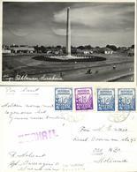 Indonesia, JAVA SOERABAIA, Tugu Pahlawan Monument (1950s) RPPC Postcard - Indonesië