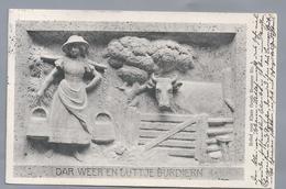 DE.- DAR WEER EN LÜTTJE BURDIERN. Relief Vom Klaus Groth Brunnen No3. 1914 Curt Baumgarten. Bildhauer Heinrich Missfeldt - Voorstellingen
