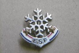 Broche (no Pin's)  - ESF Ecole Ski Français Niveaux Et Tests Flocon De Neige à 2 étoiles - Winter Sports