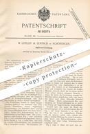 Original Patent - W. Lefeldt & Lentsch , Schöningen , 1891 , Kühlvorrichtung | Kühlung | Kühlraum , Kühlschrank !!! - Historische Dokumente