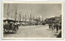 Indonesia, JAVA SOERABAIA, Kali Mas, Madurese Proas (1930s) RPPC Postcard - Indonesië