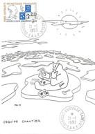 TAAF - Dumont D'Urville-T.Adélie: Carte Illustrée PEV Avec Timbre N°157 Amiral Douguet - 21/01/1993 - Lettres & Documents